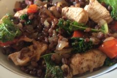 African Spiced Black Barley w/ Chicken and Tomatoes
